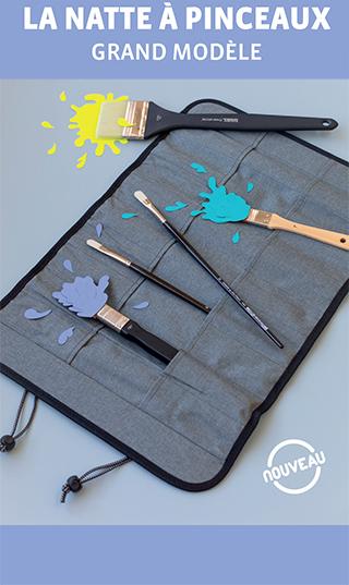 nattes pour rangement de pinceaux grand format